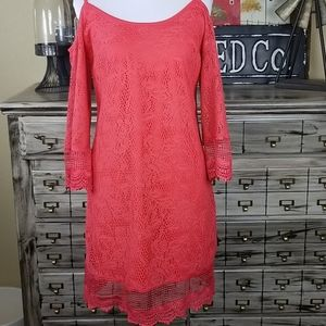 Fire Los Angeles Small Lacy No Shoulder Dress